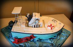 custom boat cake