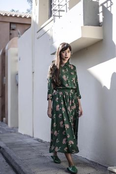 """**It's not about the dress you wear but the life you lead in the dress. Featuring """"SUZANNE"""" shirtdress.  Photo by Theodore Manolopoulos #karavan #karavanclothing #karavangirl"""