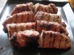 Grilled Pork Loin with Blackberry-Wine Sauce - Brine pork with salt and DIY wine sauce