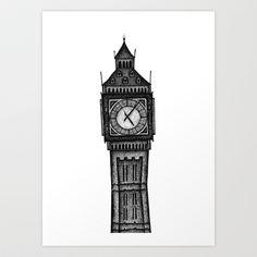 London - Big Ben Art Print by Debbie Fong - $16.00