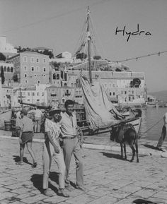 """Premium Photographic Print: Actress Melina Mercouri and Tony Perkins on Island of Hydra During Filming of """"S. Still Photography, White Photography, Greece Photography, Anthony Perkins, Athens Greece, Vintage Photographs, Vintage Photos, Greek Islands, Great Friends"""
