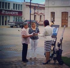 Public witnessing in Mexico. ༺♥༻ READ GOD'S WORD THE HOLY BIBLE DAILY. ༺♥༻ JW.org has the Bible and bible based study aids to read, watch, listen and download in 700+ languages (sign languages included). These aids are designed to be used with your bible.  All at no charge. Remember: NOTHING REPLACES THE BIBLE ITSELF!