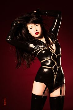 This is Carmilla's 3rd latex look I'd like to build upon.  It has not been used for a formal shoot yet.