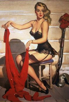 Pin Up Girl Elvgren