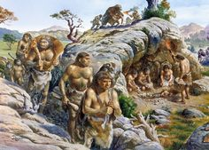 Neanderthal clan by Christian Jégou