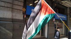 Palestinos en el centro de Santiago.