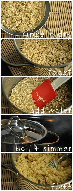 How to Make Fluffy Quinoa Tutorial (Apparently, there's a better way than just cooking it like rice.  Huh!)