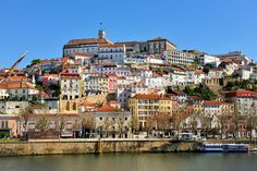 Coimbra and the river Mondego. Portugal