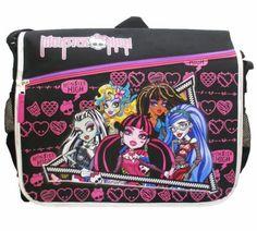 Monster High Black Messenger Bag from Ma...