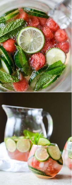 Cucumber Watermelon Sangria ICucumber Watermelon Sangria Ihowsweeteats