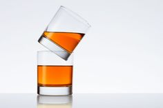 Two glasses on white background by Andrey Mikhaylov on 500px