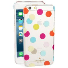 kate spade new york 'balloon dots' iPhone 6 Plus & 6s Plus case ($45) ❤ liked on Polyvore featuring accessories, tech accessories, multi and kate spade