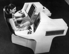 1969 futuristic office with typewriter, video recorder and photocopier (Keystone-France/ Getty Images)