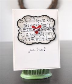 Perfect card for thank you's from a music teacher!