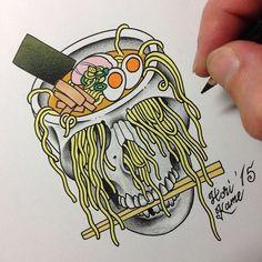 Image result for ramen 13 tattoo