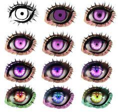 """트위터의 ART In G 자료 봇 님: """"눈 그리기 튜토리얼 ( Ryky ) #눈 #인체 #튜토리얼 #자료 #아트인지 #Eye #Drawing…"""
