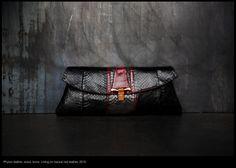 Luxury python handbag.