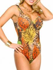 60de43e710cd1 Paradise Womens Tan Through Support Top Swimsuit Swimwear - Kiniki One  Piece Swimwear