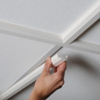 Awesome option for drop ceiling update. Really nice cabinet built in photo on their website too.  Not sure of pricing.