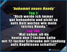 Je älter das Handy desto krassere Stunts! #lustig #Humor #Sprüche #lustigeBilder #witzig
