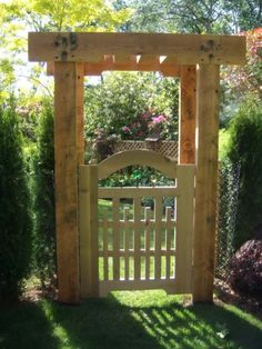I made this gate from reclaimed cedar that I salvaged from the roof of an old gas station.  The pergola is made from reclaimed Douglas Fir that I salvaged from an old bowling alley.  I even...
