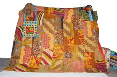 Industrious Vintage Kantha Quilt Indian Handmade Cotton Bedspread Sashiko Throw Bedding Bedding