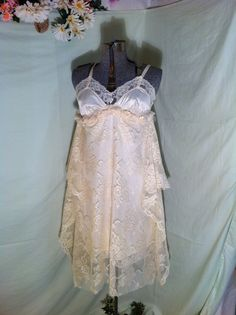 Bohemian Dress Up Cycled Dress Upcycled Boho Dress by Intrigues, $199.99 #bohodresss #bohemiandress #romanticdress