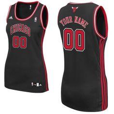 adidas Chicago Bulls Women's Custom Replica Alternate Jersey
