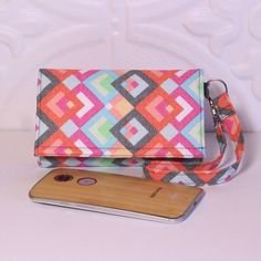 Cell Phone Wristlet Wallet / iPhone Wristlet / Card by Cucio