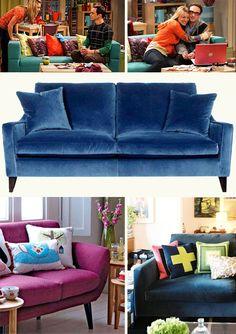 Sillones de Colores Decorativos - Para Más Información Ingresa en: http://fotosdesalas.com/sillones-de-colores-decorativos/