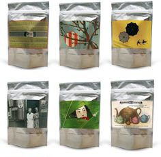 Postcard Teas: Choose your tea then fill out the virtual postcard on the back of each package. The tea will then be mailed anywhere in the world. Amazing gift idea!!