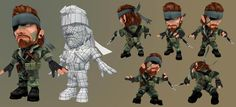 Low poly soldier