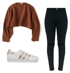 """""""Outfit"""" by vicky-skoufh on Polyvore featuring Uniqlo and adidas"""