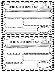 Read to Self Reflection Freebie