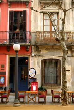Sidewalk Cafe, Barcelona, Spain
