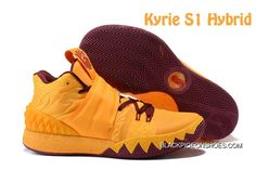 watch 1f9b7 e9fd9 2017 Nike Kyrie S1 Hybrid Yellow Burgundy TopDeals. Nike Basketball  ShoesKyrie ...