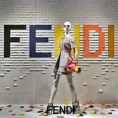 """SAKS FIFTH AVENUE,New York,""""Fendi is just a word...until someone comes along and give it meaning"""", pinned by Ton van der Veer"""