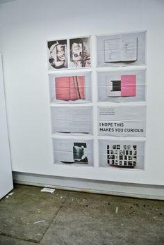Newspaper Portfolio by Roos Gortworst, via Behance