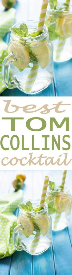 Tom Collins Cocktail recipe for the best refreshing cocktail recipe out there. This is a simple gin cocktail recipe that is perfect for serving poolside, when hosting a party, or makes a great happy hour drink recipe.