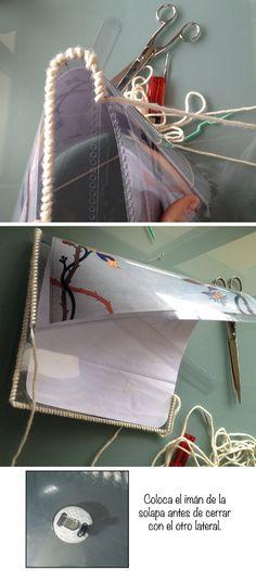 Dare to DIY: Tutorial DIY: un clutch con diseño intercambiable