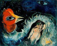 """Chagall, Pintor De Sonhos...""""Galo Apaixonado"""",1947/50:"""