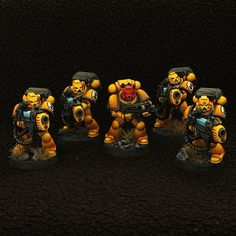 Imperial Fists Space Marine Devastator squad with Sergeant and plasma cannons…