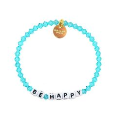 Be Happy Bracelet available at www.littlewordsproject.com