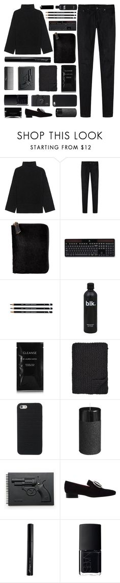 """BLACK ~"" by anam53046 ❤ liked on Polyvore featuring Steffen Schraut, R13, Miu Miu, Logitech, WALL, Cleanse by Lauren Napier, Alicia Adams, Pier 1 Imports, Revolver and Antonym"