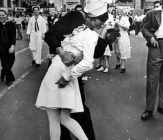 most iconic photograph from the victory celebrations of World War II.