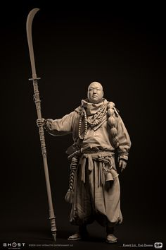 Action Pose Reference, Action Poses, Katana, Character Concept, Character Design, Zbrush Models, Ghost Of Tsushima, Warrior Pose, Samurai Armor