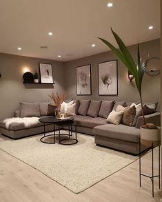 Living Room Decor Set, Classy Living Room, Living Room Modern, Home Living Room, Cozy Living Rooms, Beige Living Rooms, Home Room Design, Interior Design Living Room, Living Room Designs