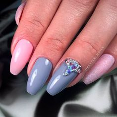 Rhinestones Accent For Coffin Nails ❤ 30+ Outstanding Short Coffin Nails Design Ideas For All Tastes ❤ See more ideas on our blog!! #naildesignsjournal #nails #nailart #naildesigns #coffins #coffinnails #shortcoffinnails #coffinnailshapes