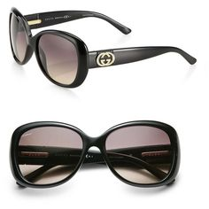 Gucci Logo Butterfly Sunglasses ($425) ❤ liked on Polyvore featuring accessories, eyewear, sunglasses, apparel & accessories, black, butterfly glasses, over sized sunglasses, gucci, logo sunglasses and butterfly sunglasses