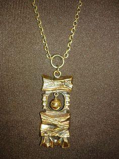 Pentti Sarpaneva Bronze Vintage 70s Pendant Necklace-Stocking Stuffer Jewelry #PSarpaneva #Pendant